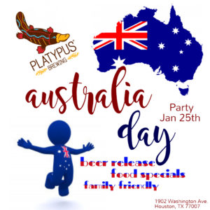 Australia Day Party 2020 @ Platypus Brewing